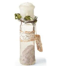 Make own faerie glitter with personalized wedding info for a wedding favor.