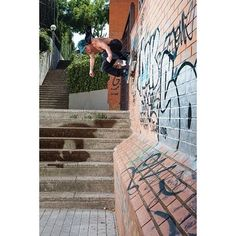 theskateboardmag: Cory Kennedy, Wallride, Barcelona, Spain. Photo: @atibaphoto #theskateboardmag106 #prettysweet @girlskateboards, @nikesb, @royaltrucks, @spitfirewheels