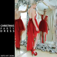Christmas party dress  red dress  Lunatic fashion wear Made in Italy  Follow us on facebook https://www.facebook.com/pages/Lunatic-Italia/292330960837235