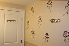Fun, contemporary stenciled bathroom