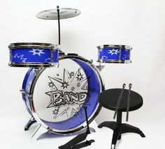 "Wonders Shop USA Toy Small Drum Musical Children Plastic Kid Big Band Play Set - BLUE Color by Wonders Shop USA. $15.75. 1 PC BASS DRUM 13"", 1 CYMBAL. 1 PC MEDIUM DRUM 6.5"". 1 FOOT PEDAL, 2 PCS DRUM STICKS. 1 PC SMALL TOM TOM 5"". 1 PC CHAIR 10"". INCLUDED:  ? 1 PC BASS DRUM 13""   ? 1 PC MEDIUM DRUM 6.5""   ? 1 PC SMALL TOM TOM 5""   ? 1 FOOT PEDAL   ? 1 CYMBAL   ? 2 PCS DRUM STICK   ? 1 PC CHAIR 10""    Material : Plastic Shipped and Sold by WONDERS SHOP USA.  Your o..."