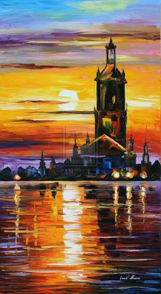 OLD TOWER - LEONID AFREMOV by Leonidafremov on DeviantArt