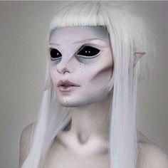 Amazing but creepy makeup job! #Fantasymakeup