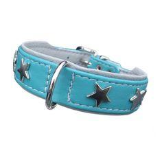 Hundehalsband Magic Star http://www.hundeleben-exklusiv.de/products/SCHOeNER-GASSI/Halsbaender-Leinen/Leder/Hundehalsband-Magic-Star1.html