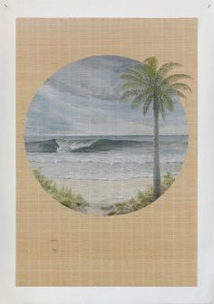 #Bamboo #SurfVintage #seascape #beachinterior #sustainableart #coastallandscape #bamboomat #mutedpalette #scenicpainting #seagrass #canvasprint #beachscenery Matchstick Blinds, Beach Scenery, Wall Finishes, Wall Murals, Mystic, Bamboo, Canvas Prints, Ocean, Hand Painted