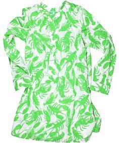 virginia johnson green lobster tunic