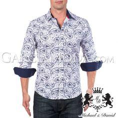 Camisa Michael & David Luxury Menswear MD-729-Navy
