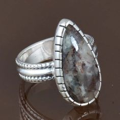 925 STERLING SILVER NEW STONE ASTROPHYLITE RING 4.76g DJR8267 SZ-5.25 #Handmade #Ring