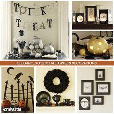 Elegant, Gothic Halloween Decorations! #halloween #decorating #DIY #fall #festivities #pumpkin