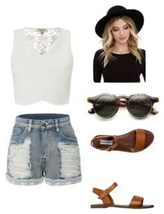 """Untitled #3"" by kinneytasha ❤ liked on Polyvore featuring LE3NO, Lipsy, Steve Madden and RHYTHM"