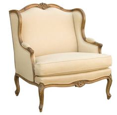 Superb Louis XV Style Wingback Armchair Extra Wide