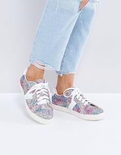 3eb0b632214 ASOS DANCING QUEEN Glitter Sneakers - Multi Dance Shoes