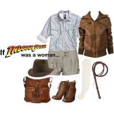 If Indiana Jones was a woman..., created by racheljay on Polyvore