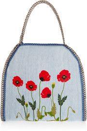 Stella McCartneyThe Falabella large embroidered denim shoulder bag