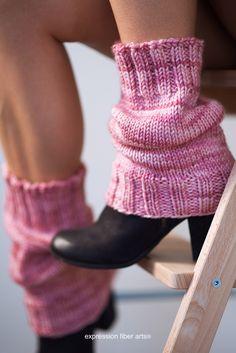 Free Scrunchable Knitted Leg Warmer Pattern