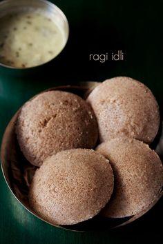ragi idli recipe - nutritious idli made with finger millet flour, idli rice and urad dal. #breakfast #southindianfood