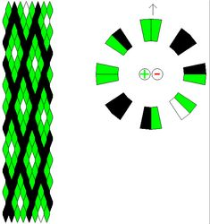 kumihimo pattern for printables.                    16 strings.  3 colours