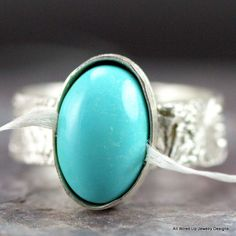 Persian Turquoise Ring   Sterling Turquoise Ring by PPennee, $130.00
