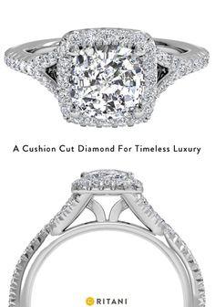 Cushion Cut Diamond Engagement Rings: Art Deco Inspired, by Ritani
