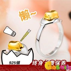 Anime-Gudetama-925-Silver-Ring-Accessories-US-size-7-Cos-Gift