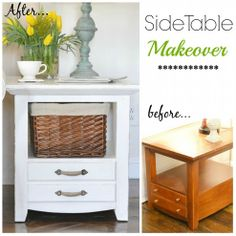 DIY:: So Easy !! Beautiful Just Over #15 Dollars Chic High end Side Table makeover !  (Looks exactly like the ones in the Spring  Pottery Barn Catalog that are 5 x the Cost !! !