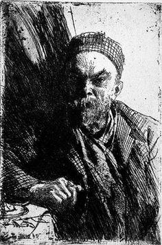 Anders Zorn, Paul Verlaine, 1895, etching, LACMA