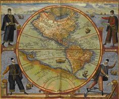 Explorers and Map of the Americas