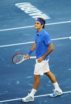 Roger Federer   Satisfied smile  :)  Good work Roger!