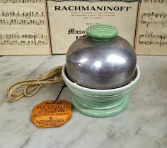 $39.99.  Makes GREAT eggs! #ViNTAGE SeaFOAM GrEEN HANKSCRAFT AuTOMATIC #ELECTRIC Egg CooKER. #poachedeggs #kitchenappliance  https://www.etsy.com/listing/465641306 … …