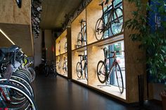 Learning to ride a bike is no big deal. Learning the best ways to keep your bike from breaking down can be just as simple. Bike Shop, Bicycle Store, Boutique Velo, Bike Hanger, Bicycle Maintenance, Bike Storage, Shops, Retail Design, Design Interiors