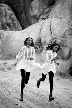 Inspired by the 1975 film Picnic at Hanging Rock  -   Peter Lindbergh for Vogue US March 2015