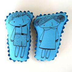 print gocco dolls $9 each handmade