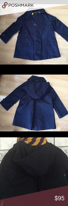 NWOT Ralph Lauren Toddler Boy's Navy Trench Coat NWOT Polo Ralph Lauren Blue Navy Toddler Boy's Classic Super Stylish Hooded Trenc Coat. Size 2T. Ralph Lauren gift box available for extra $4. Retail price more than $250. Polo by Ralph Lauren Jackets & Coats