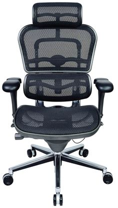 E Human Executive Office Chair With Back Tilt   Sycro Mechanism U0026 Active  Lumbar Support.