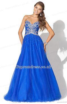 blue prom dresses long