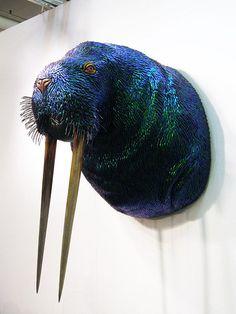 I Am The Walrus Mixed Media Taxidermy, Enrique Gomez de Molina, via Flickr.