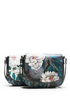 9825669d41cf Black floral messenger bag - Cracovia Troy