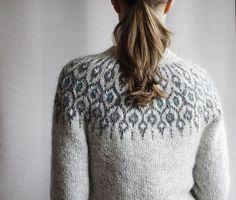 Ravelry: Telja pattern by Jennifer Steingass Fair Isle Knitting, Hand Knitting, Icelandic Sweaters, I Cord, Beautiful Crochet, Fair Isles, Knit Cardigan, Knitwear, Knit Crochet