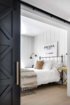 Southern California beach house with gorgeous industrial-chic accents Modern Bedroom Furniture, Bedroom Decor, Bedroom Ideas, Master Bedroom, Bedroom Storage, Bedroom Designs, Master Suite, Furniture Ideas, Bedroom Organization