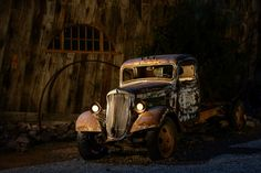 light painting photography old truck - Google Search
