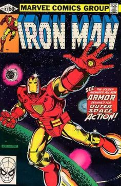 Iron Man 142 - Golden Avenger - Outer Space Action - Planets - Stars - Armor - Bob Layton