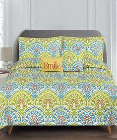 Loving this Yellow Dakota Five-Piece Reversible Comforter Set on #zulily! #zulilyfinds