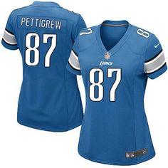 9c186518a ... Women Nike Detroit Lions 87 Brandon Pettigrew Limited Light Blue Team  Color NFL Jersey Sale ...