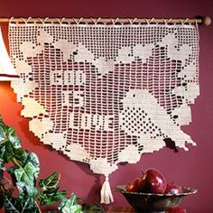 God Is Love Filet Crochet