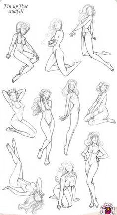Pin-up Poses: Anatomy references for figure drawing. Drawing Poses, Drawing Tips, Drawing Reference, Sketch Poses, Body Drawing, Figure Drawing, Drawing Practice, Female Drawing, Life Drawing