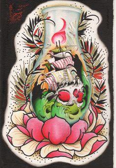Tattoo flash, wonderful design!