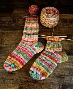 knitted socks, handspun yarn