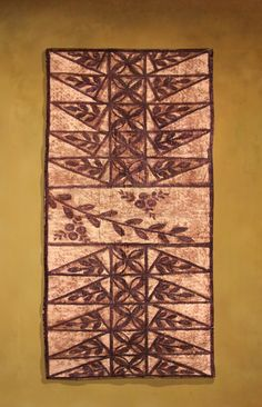 Authentic vintage Ngatu or Tapa cloth from the Tongan islands.