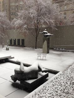 """outdoor courtyard at MoMA.  Many days were spent there...I need one more day...I want one more day.  Moving it up on my """"bucket list""""."""
