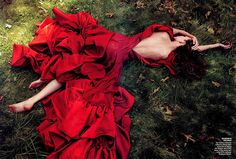 Oh just a typical day laying on the grass in a beautiful Zac Posen dress.